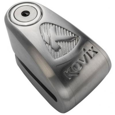 KOVIX kotoučový zámek s alarmem KAL10 silver
