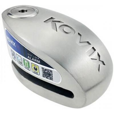 KOVIX kotoučový zámek s alarmem KAS15 silver