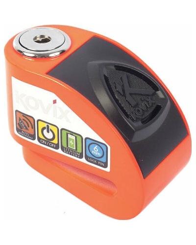 KOVIX kotoučový zámek KD6 Alarmový fluo orange