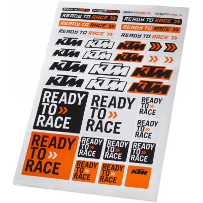 KTM nálepky CORPORATE black/orange