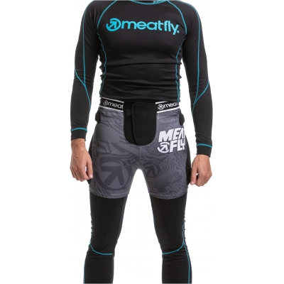 MEATFLY šortky NORRIS 2 black/grey