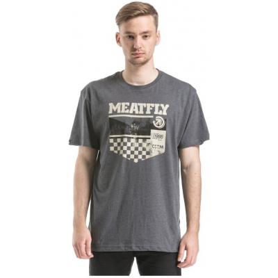 MEATFLY triko KICKSTART heather charcoal