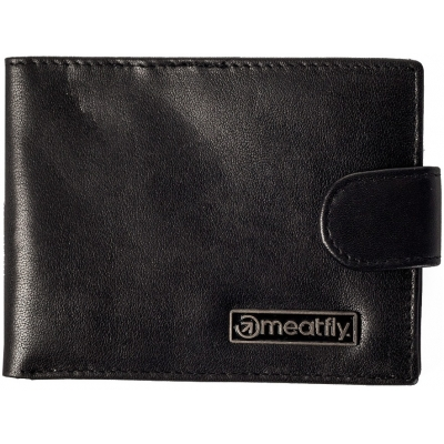 MEATFLY peněženka RIKER LEATHER WALLET black