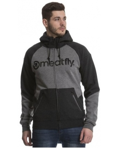 MEATFLY mikina TWITCH 3 light grey/dark grey