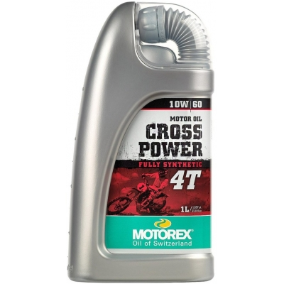 MOTOREX motorový olej CROSS POWER 4T JASO MA2 10W60 1L