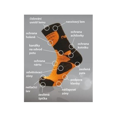 NANO ponožky AN-ATOMIC anthracite