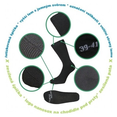 NANO ponožky COMFORT black