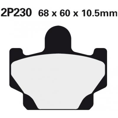 NISSIN Brzdová destička 2P230 SS