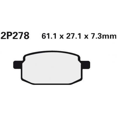 NISSIN Brzdová destička 2P278 SS