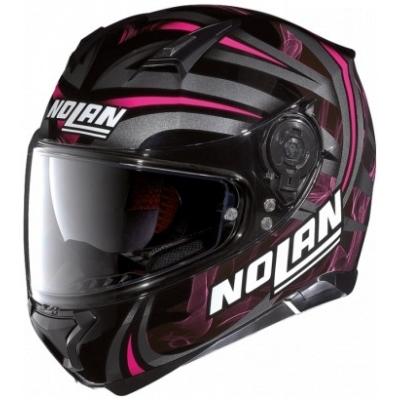 NOLAN přilba N87 Ledlight black/pink