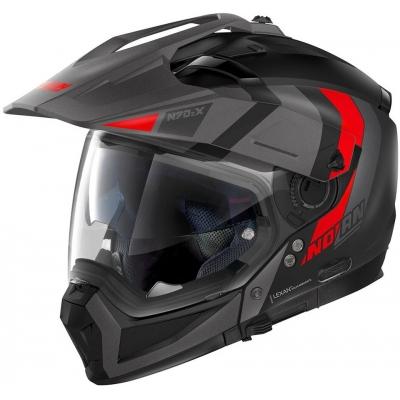 NOLAN prilba N70-2X Decurio flat black / red
