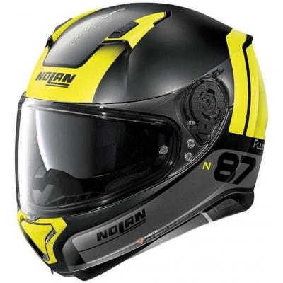 NOLAN přilba N87 PLUS Distinctive flat black/yellow