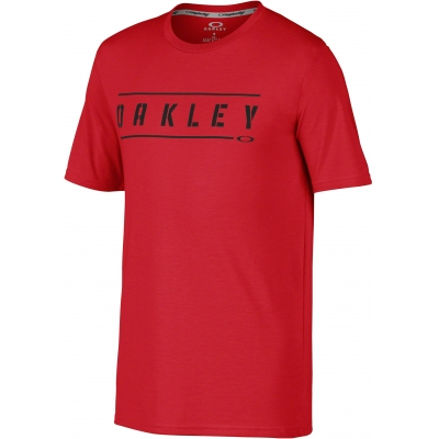 OAKLEY triko O-DOUBLE STACK red line