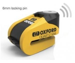 OXFORD kotoučový zámek QUARTZ XA6 LK215 Alarmový yellow/black
