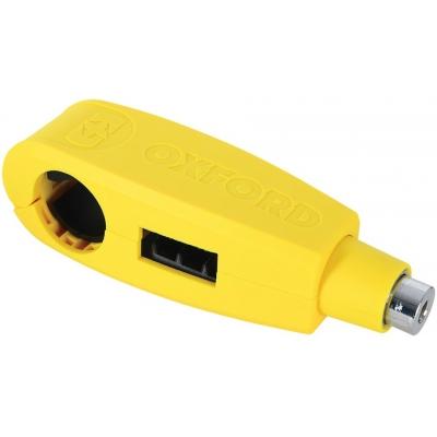 OXFORD zámek brzdové páčky LEVERLOCK LK301 yellow