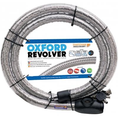 OXFORD lanový zámek REVOLVER 1.4mx25mm OF231 silver