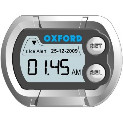 OXFORD hodiny a teploměr MICRO CLOCK OF219 silver