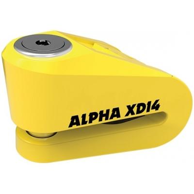 OXFORD kotoučový zámek ALPHA XD14 LK276 yellow