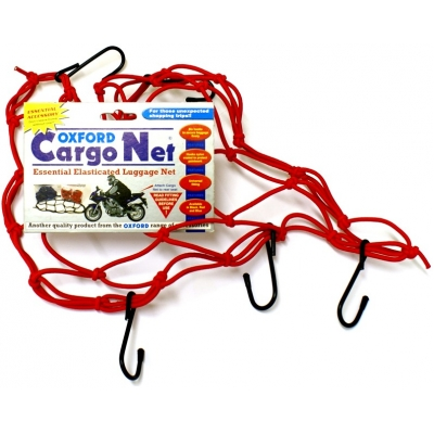 OXFORD sieť CARGO NET 30x30cm OF128 red