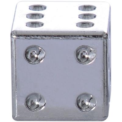 OXFORD čiapočky ventilov LUCKY DICE OF893S silver