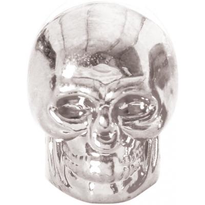 OXFORD čepičky ventilku SKULL OF894S silver