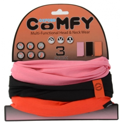 OXFORD nákrčníky COMFY NW113 pink/black/red