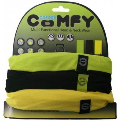 OXFORD šatky COMFY NW116 green/black/yellow