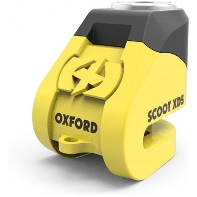 OXFORD kotoučový zámek SCOOT XD5 LK260 yellow/black