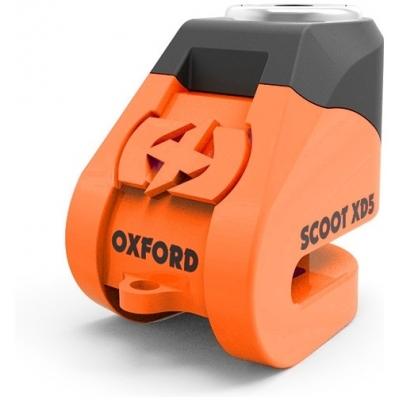 OXFORD kotoučový zámek SCOOT XD5 LK261 orange/black