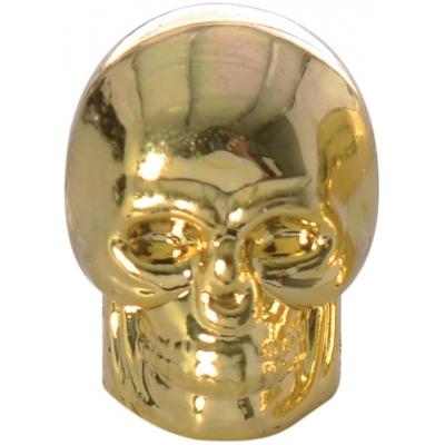 OXFORD čiapočky ventilov SKULL OF894G gold