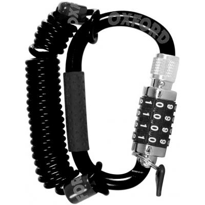 OXFORD zámek na přilbu SCOOTSAFE LK389B black
