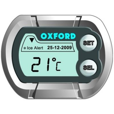 OXFORD hodiny a teploměr DIGICLOCK OX562 silver