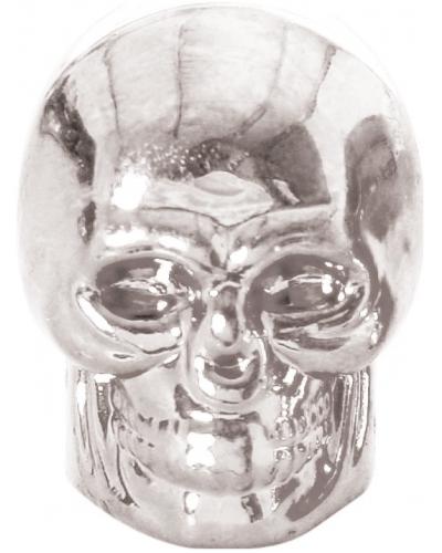 OXFORD čepičky ventilku SKULL OX766 silver