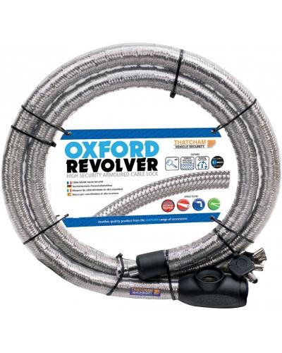 OXFORD lanový zámek REVOLVER 1.8mx25mm OF232 silver