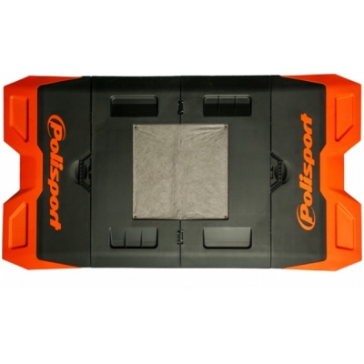 POLISPORT podložka pod motorku BIKE MAT black/orange