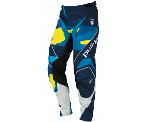 PULL-IN kalhoty FIGHTER 16 camo blue/fluo yellow