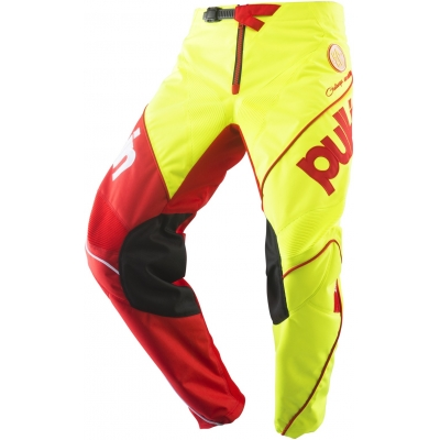 PULL-IN kalhoty CHALLENGER RACE 19 neon yellow/red