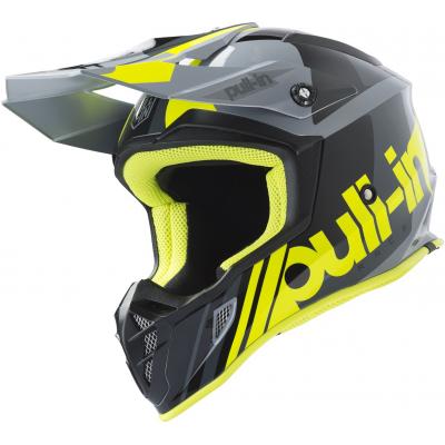 PULL-IN přilba RACE 19 grey/neon yellow