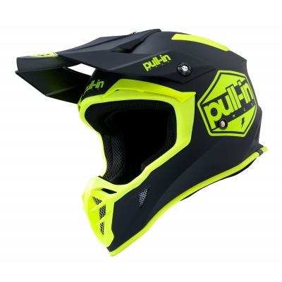 PULL-IN přilba SOLID 20 matt neon yellow