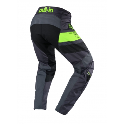PULL-IN nohavice CHALLENGER RACE 20 charcoal / lime