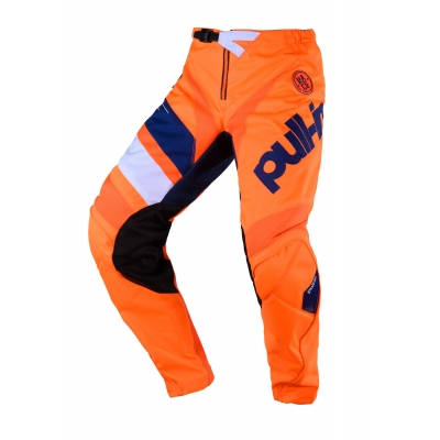 PULL-IN nohavice CHALLENGER RACE 20 detské neon orange / navy