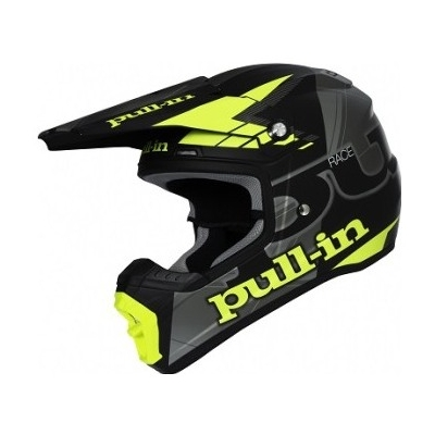 PULL-IN přilba black/grey/neon yellow