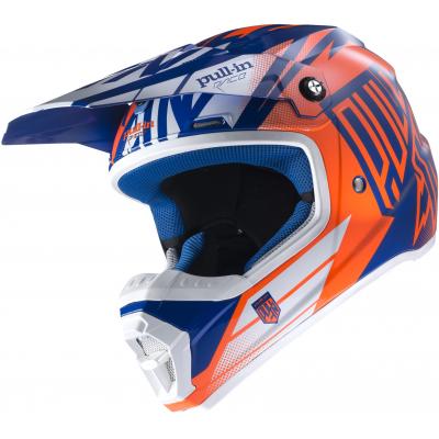 PULL-IN přilba blue/neon orange