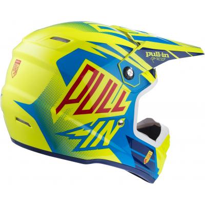 PULL-IN přilba neon yellow/cyan
