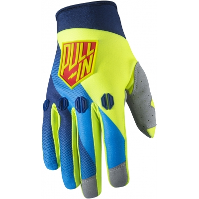 PULL-IN rukavice RACE 17 blue/neon yellow