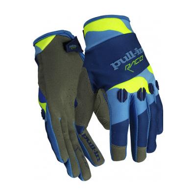 PULL-IN rukavice FIGHTER 16 camo blue/neon yellow