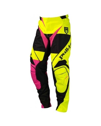 PULL-IN kalhoty FIGHTER 16 fluo yellow/fluo pink