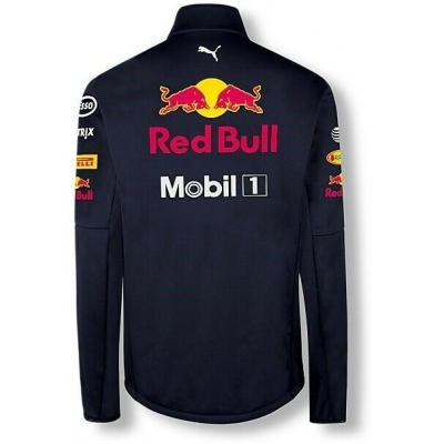 RedBull bunda TEAM AMRBR Softshell blue / red