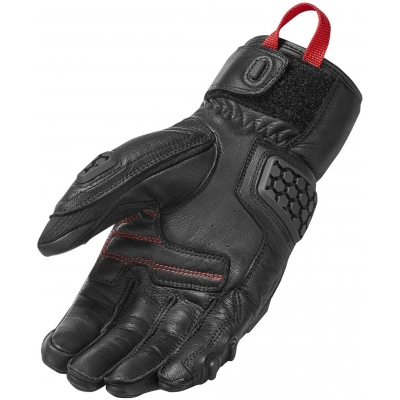 REVIT rukavice SAND 3 black/red