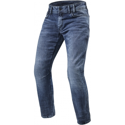 REVIT kalhoty jeans DETROIT TF Short medium blue